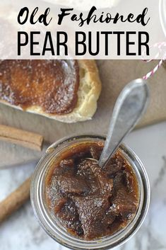 This sweet and delicious pear butter recipe is the perfect fall comfort food. Use this old fashioned recipe for pear butter as topping for toast ice cream and fresh biscuits. It is similar to apple butter in flavor just with a bit sweeter natural flavor. Fall Recipes, Easy Dinner Recipes, Dessert Recipes, Easy Meals, Recipes For Pears, Recipe Using Pears, Pear Recipes Healthy, Fresh Pear Recipes, Pear Dessert