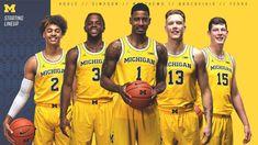 Michigan Men's Basketball (@umichbball) | Twitter Michigan Athletics, Michigan Wolverines, Sport Inspiration, Design Inspiration, College Hoops, Sports Graphics, Street Workout, Go Blue, College Basketball