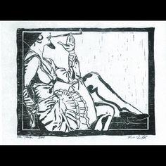 Series: Grit and Glamour Title: Torch #lorraineimwoldart #smoking #hat #dramatic #legs #gunmoll #gangstermoll #singer http://ift.tt/1UKX352