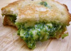 Spinach, Avocado, and Gouda Grilled Sandwich!  This site also has lots of other recipes.