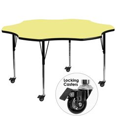 Yellow flower activity table XU-A60-FLR-YEL-T-A-CAS-GG