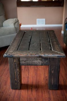 Reclaimed Wood Coffee Table by TheNaturalCustom on Etsy, $350.00