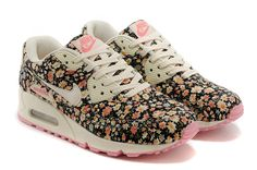 Nike Air Max 90 - Floral Print Running Shoes - Jasmine Flower