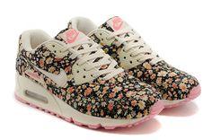 Nike Air Max 90 - Floral Print Running Shoes - Jasmine Flower