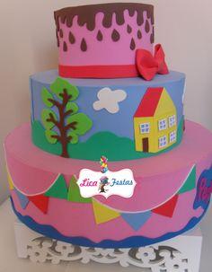 Bolo Peppa pig Peppa Pig, Birthday Cake, Pastel, Desserts, Cakes, Food Cakes, Birthday Cakes, Cake, Deserts
