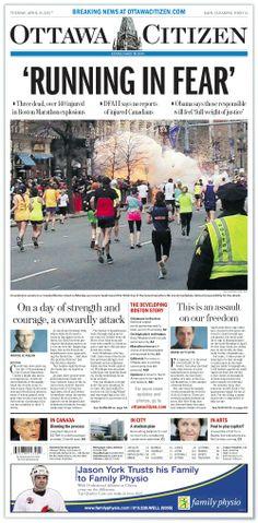 Ottawa Citizen Front Page, April 16, 2013