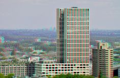 https://flic.kr/p/JMot2Z | The First-Tower Rotterdam 3D | anaglyph stereo red/cyan View from Euromast