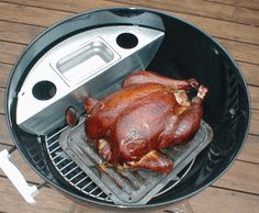 How to turn your Weber charcoal grill into a smoker.