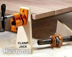 Woodworking School Improve your woodworking skills and glue joints with these 18 tips to show you how to clamp like a veteran woodworker. Our pro shows you shortcuts that eliminate the need for a stack of expensive or special clamps. Woodworking Shows, Woodworking Projects That Sell, Woodworking Workbench, Woodworking Workshop, Woodworking Classes, Woodworking Techniques, Fine Woodworking, Woodworking Crafts, Woodworking Furniture