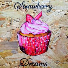 Strawberry and pink, cupcake dreams art Apple Art, Dream Art, Toffee, Cupcake, Strawberry, Dreams, Pink, Sticky Toffee, Candy