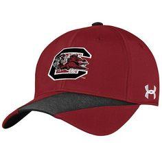91e6b024b6c Men s Under Armour Garnet South Carolina Gamecocks Sideline Renegade Accent  Performance Adjustable Hat