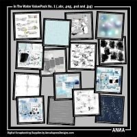In The Water ValuePack No. 1 - 15 #summer themed #digitalart products for #scrapbook #digiscrap #digitalscrapbooking #photoshop #digitalphotographer #photographer #collage #artjournal #crafts #art. See www.annaaspnesdesigns.com for further guidance on usage.