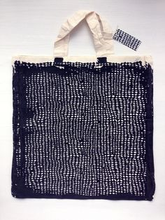 "northmagneticpole: "" Hand Printed Eco Tote Bag in Betty Black-Lidia Blomgren """