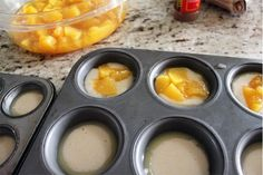 "Mini peach cobblers, Must try with other fruits too! ""I just made these and they are awesome and easy!"""