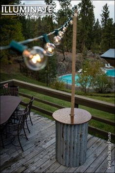Upcycled Lighting Stands For String Lights By Illuminateyournight 30 00