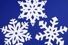 One Little Project - Page 2 of 79 - Cook, bake, craft, create, one little project at a time! Making Paper Snowflakes, Paper Snowflake Template, How To Make Snowflakes, Origami Templates, Box Templates, Winter Art Projects, Winter Crafts For Kids, Christmas Projects, Christmas Decor