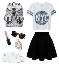 """""""Untitled #9"""" by jamslzr on Polyvore featuring Aéropostale, adidas, Candie's, MAC Cosmetics, Ted Baker, women's clothing, women, female, woman and misses"""