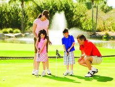 Family day at the golf course. Even the little ones love to golf in Scottsdale.