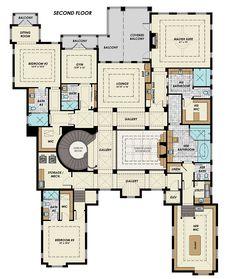 Florida Mediterranean House Plan 71526 Level Two