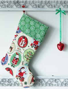 ...but skarpeta Świętego Mikołaja...Christmas stocking...rękodzieło.Na sprzedaż 55 zł. agnieszkakreczynska.wix.com/sekretyszafy
