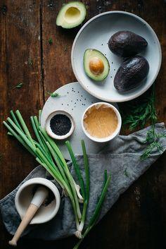 miso-tahini avocado toast w/ black sesame gomasio   dolly and oatmeal