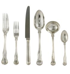 A VICTORIAN SILVER TABLE SERVICE OF KINGS SHAPE DOUBLE THREADED PATTERN FLATWARE | MARK OF GEORGE ADAMS, LONDON, 1845/51 | mid 19th Century, All other categories of objects | Christie's