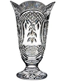 House of Waterford Crystal Four Season Footed Vase