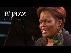 Dianne Reeves - Jazzwoche Burghausen 2012.  Incredible!  Dianne slays it!!  Start at 27:20 and listen to her gospel of A Good Day   Holy bam!  The bass player!  Treat yourself to Dianne feeling it :-)