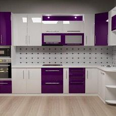 Fabulous Modern Kitchen Sets on Simplicity Efficiency and Elegance Purple Kitchen Cabinets Moduler Kitchen, Kitchen Cupboard Designs, Kitchen Cabinets, Pantry Design, Kitchen Room Design, Kitchen Sets, Kitchen Interior Design Decor, Kitchen Cabinet Interior, Modern Kitchen Design