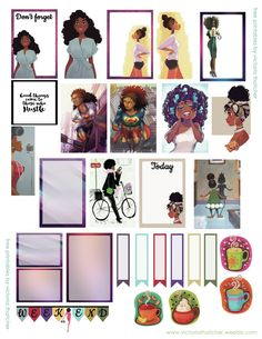 African American gal printable for regular happy planner I will use this one in February for black history month