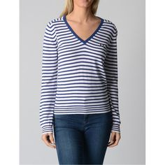 Striped M Fred Perry Womens Sweater 31412124 0035