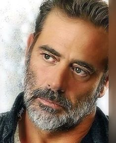What beautiful eyes you have! Jefferey Dean Morgan, Pretty People, Beautiful People, Greek Men, Men With Grey Hair, Raining Men, Moustaches, Beard Styles, Bearded Men