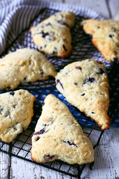 """There's nothing better than morning's with a great cup of coffee and some blueberry chocolate scones. 