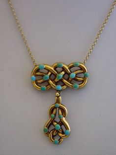 love knot necklace, england 1870