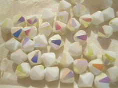 These vintage Swarovski beads are really cool.  Never seen this color before.  What would you use them for?