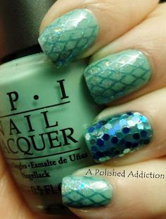 A Polished Addiction: Mermaid Nails. Lacey do this to my nails please !!!