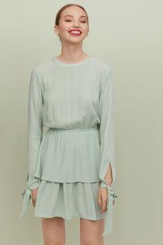 e92abf5b37b5 Tiered Dress - Light green plumeti - Ladies