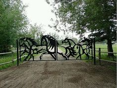 """This would be the """"Welcome to my awesome dream barn"""" gate"""