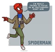 Hipster + Spiderman