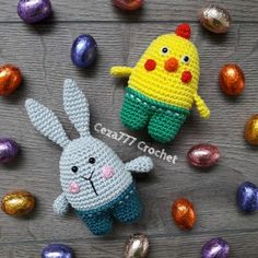 Download Easter Chick And Bunny Amigurumi Pattern (FREE)