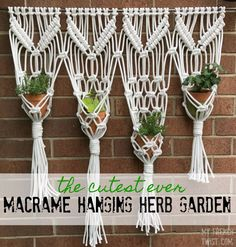 Want a piece of art that is also functional? Follow this tutorial for a macrame hanging herb garden! I've been wanting to make a large macrame wall hanging for…