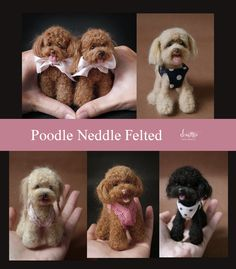 Poodle needle felted Dogs ...so so cute