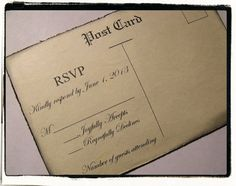 Wedding Invitation Handmade Vintage / Country Chic by cuteNtrendy