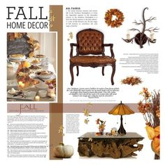 """Fall Home Decor (Contest)"" by anna-nemesis ❤ liked on Polyvore featuring interior, interiors, interior design, home, home decor, interior decorating, Nearly Natural, Anja and fallhomedecor"