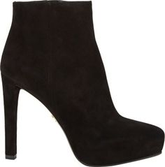 Prada Suede Platform Ankle Boots at Barneys New York