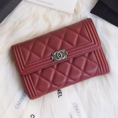 Chanel A84302-1 Boy Chanel Small Wallet