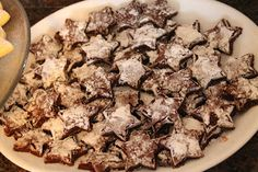 Star shaped brownies. Use a mix, pour into a jelly roll pan to bake. They are so thin and perfect for cutting with a cookie cutter. Sprink...