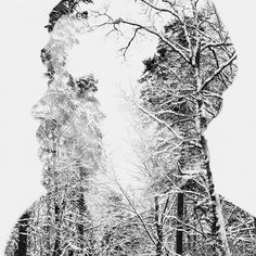 Winter Edition – Multiple Exposure Portraits by Christoffer Relander, via Behance Double Exposure Photography, Old Photography, Artistic Photography, Digital Photography, Inspiring Photography, Close Up Faces, Instagram Background, Multiple Exposure, Rule Of Thirds