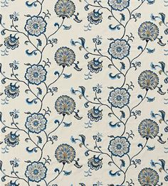 Swanborough - Blue/Olive/Oyster fabric, from the Denbury collection by Baker Lifestyle