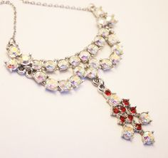 Hey, I found this really awesome Etsy listing at https://www.etsy.com/listing/202863557/vintage-rhinestone-necklace-crystal